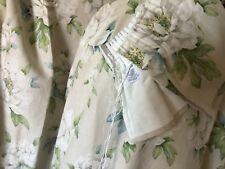 Laura Ashley linen mix curtains with pelmet.