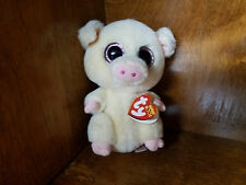 Authentic Ty Beanie Boo Piggley 6 inch size. New and Mint with tags!