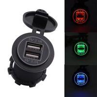 12V 24V  Dual USB 2-port Chargeur LED Pour Voiture 5V 4.2A for Motorcycle Car