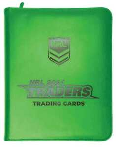 2021 NRL Traders Rugby League Trading Cards Album Folder Binder with 30 Pages
