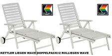 KETTLER Alu Kettalux Doppelpack 2 Rollliegen liege Klappliege Wave Haus