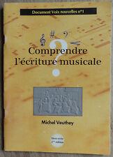 Comprendre l'écriture musicale, par Michel Veuthey - 2003