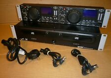 Gemini CDX-2400 Professional CD Player with power connection leads. Rack Mount