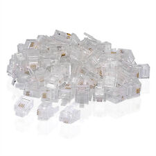 100Pcs RJ11 CRIMPSTECKER CRIMP-STECKER 6P4C TELEFON PLUG
