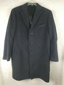 MEN'S TAILORED CULTURE STAFFORD BLACK WOOL COAT SIZE 42S