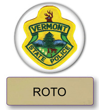 SUPER TROOPERS ROTO POLICE NAME BADGE & BUTTON HALLOWEEN COSTUME PIN BACK