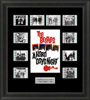 The Beatles a Hard Days Night Mounted Framed 35mm Film Cell Memorabilia Filmcell