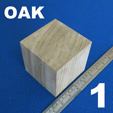 "LOT of 1 CUBE 4.0"" /~100 mm WOODEN BLOCKS BUNDLE SET OAK WOOD NATURAL ECO BRICKS"