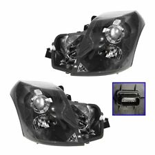 Headlight Headlamp Assembly Halogen Left LH & Right RH Pair Set for Cadillac CTS