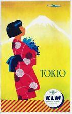 Original vintage poster TOKYO MT.FUJI GEISHA KLM c.1955
