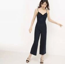 8a0011bee00e Size 8 Uk New La Redoute Shoestring Navy Strappy Jumpsuit Sleeveless