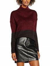 New Look Claret and Black Roll Neck Jumper size S UK 10 NEW