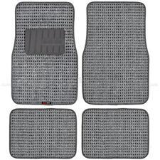 Plush Gray Berber Carpet Floor Mats 4pc Car Interior Front & Rear