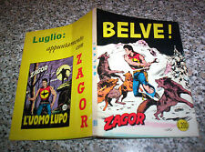 ZAGOR ZENITH N.99 ORIGINALE DEL 1969 Q.PERFETTO TIPO TEX MARK ARALDO DOG RANGER