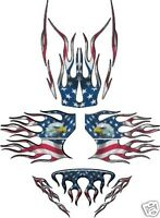 USA PATRIOT SLED WRAP for SKI-DOO rev 03-07 mxz renegade summit decal