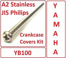 Yamaha YB100 - Crankcase Covers Kit - Stainless Philips