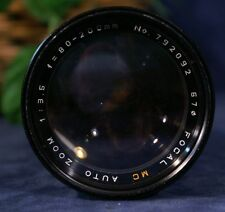 EUC FOCAL MC AUTO ZOOM 80-200mm f 3.5 Lens with Canon Mount Case 62mm UV Filter