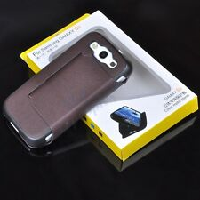 New Brown PU Leather Side Flip Stand Case Cover For Samsung Galaxy S 3 III I9300