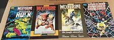 lot of 4 tpb soft cover wolverine vs hulk spider-man punisher sabertooth trade