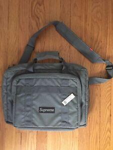 Supreme New York Vintage Scatter Weave Grey Laptop Bag Case USA Made 2005