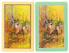 Swap playing cards     1 pair Vintage Deers