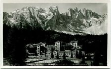 Primi '900 Grand Hotel Carezza monti innevati panorama FP B/N