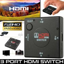 HDMI Hub 3 Port Switch AUTO Switcher Splitter Selector Box HDTV 2160P V1.4 US