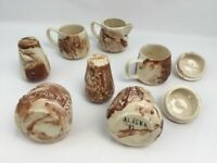 Rustic Dinner Set Creamer Sugar Bowl Salt Pepper Coffee Mugs Primitive Alaska