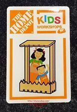 LMH PINBACK Pin PICKET FENCE PICTURE FRAME Home Depot Kids Workshop Photo Holder