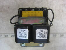 Warrick Controls Gems 1G1D0 115/300V 1NC 2NO Control Relay, Used