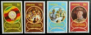 Postfrische Briefmarken aus Simbabwe, 1982, M.Nr. 265 - 268 (10)