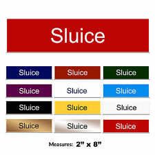 Sluice Engraved Care Home Hospital Door Sign + FREE CHOICE OF COLOURS 2 x 8 inch