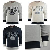 Men's Tommy Hilfiger Sweatshirt Sweater White Grey Navy Long Sleeve Jumper