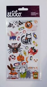 NEW Halloween Sticko STICKERS Cute Animals Pets Costumes Cat Dog Owl