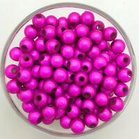 50PCS 8mm 3D Acrylic Rose Round Pearl Spacer Loose Dream Beads Jewelry Making