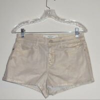 Abercrombie & Fitch Women's Short Size 8 High Rise Gold Shine Stretch