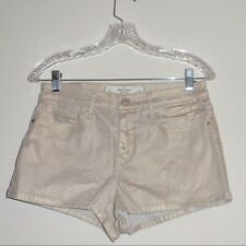 Abercrombie & Fitch Women's Short Size 10 High Rise Gold Shine