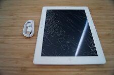 4/10 CRACKED SCREEN Apple iPad 2 64GB, Wi-Fi + 3G, 9.7in - White OZ STOCK