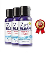 3 Pc ZetaClear Natural Safe Nail Fungus Treatment Remedy Solution Zeta Clear New