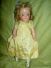 "Gorgeous compo. Madame Alexander tgd. 13"" PRINCESS ELIZABETH doll A/O excellent"