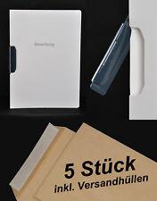 5x Durable DURASWING JOB - Bewerbungsmappe - weiss mit Clip + Umschlägen