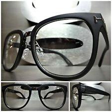 74e5df00a56d Men s Women VINTAGE RETRO Style Clear Lens EYE GLASSES Matte Black Fashion  Frame