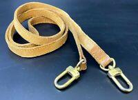 """Authentic Louis Vuitton Leather Shoulder Strap Beige Length 50.5""""  K-1008"""