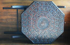 Antique Anglo-India folding Carved Wood Campaign Side / End Table w/ 2 drawers