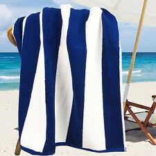 Ramesses 100% Cotton Jacquard Beach Towels, Large Size 150x75cm, Navy Stripe