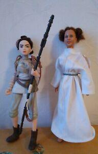 Lot Star wars 1978 vintage princess leia organa doll poupée vintage + Rey