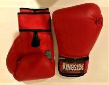 Vintage Ringside Super Punching Bag Large Boxing Gloves Red Black 13 oz