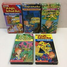 Lot of 5‼ The Magic School Bus VHS Rainforest Space Haunted House Construction +