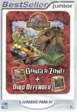 (PC) - Jurassic Park III-Dino DEFENDER + Danger Zone! - MERCE NUOVA!