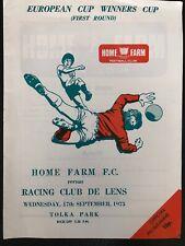 17.9.1975. Home Farm FC v Racing Club De Lens, (Cup Winners Cup 1st R).
